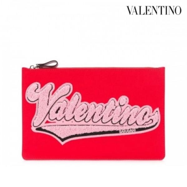 Valentino 발렌티노 가라바니 로고패치 클러치 PY2P0483GVR RED/NAVY
