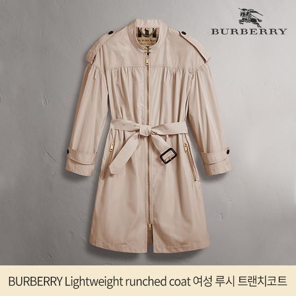 BURBERRY 버버리 Lightweight runched coat 여성 루시 트랜치코트 전세계품절 소장판!_리씽크팀