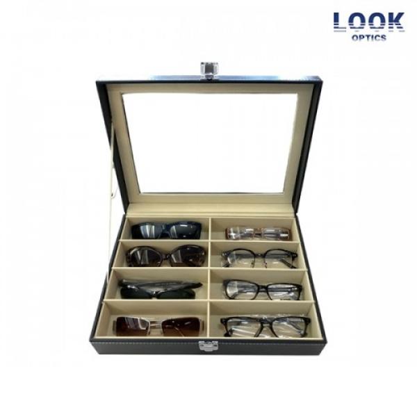 [타임세일~08/12까지]  [룩옵틱스] 안경+선글라스 8개 랜덤박스 (안경4개 + 선글라스4개 + 8종 안경/선글라스 보관함)