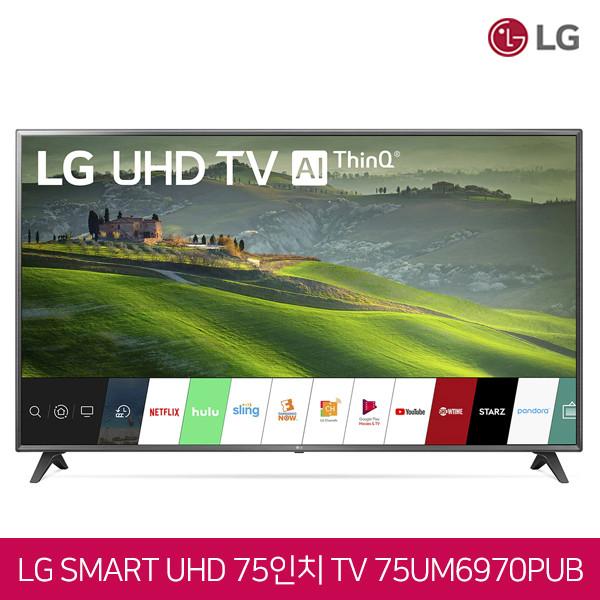 LG전자 75인치 4K UHD HDR 스마트TV 인공지능 Ai ThinkQ 75UM6970