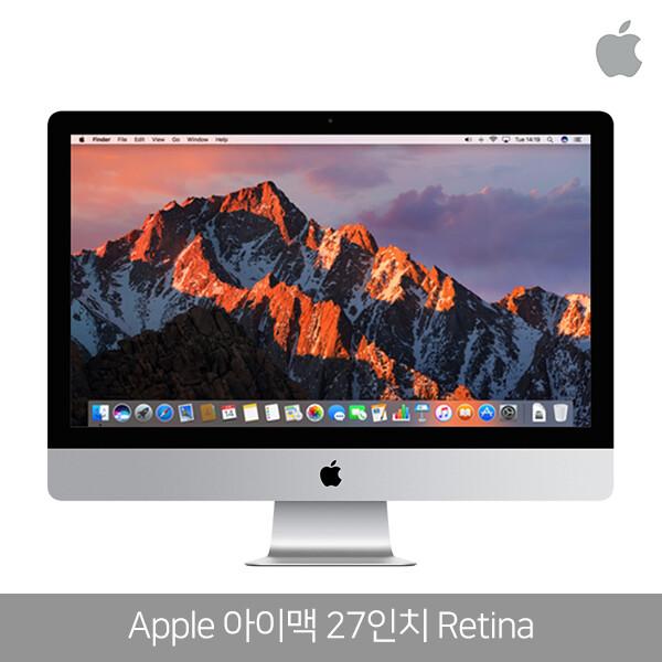 코어i7 애플 아이맥 27인치 Retina (인텔 스카이레이크 코어 i7-4.0GHz/램16GB/HDD 1TB/RADEON R9 M390/27인치 5120x2880/ios)