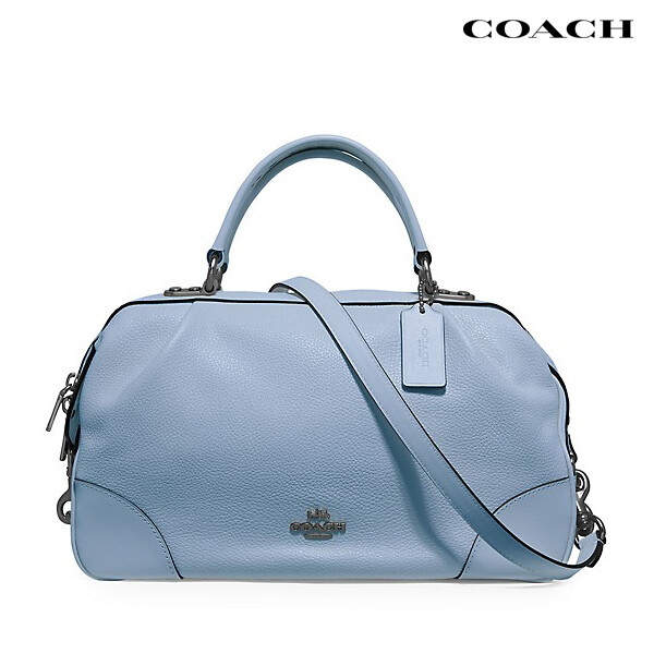 Coach 코치 Leather Lane Satchel Blue 사챌백 토트백