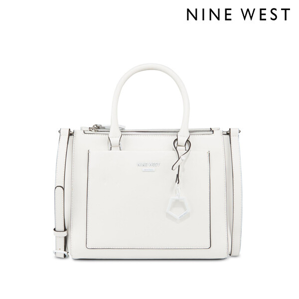Nine West 나인웨스트 Cecylia A-List Satchel 토트백 (White)