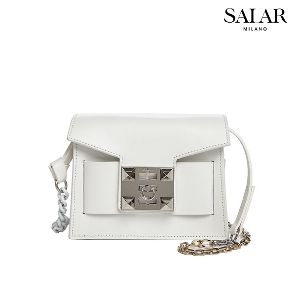 Salar Milano 사라 밀라노 Gaia Chain Shoulder Bag 숄더백 (White)