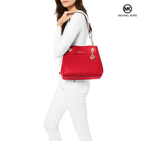 Michael Kors 마이클 코어스 Jet Set Chain Legacy Shoulder Bag Light Red 숄더백