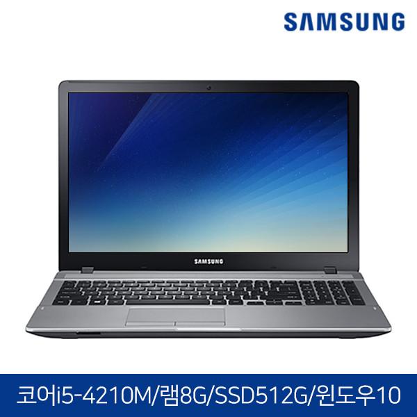 윈도우10탑제! 삼성노트북 NT371B5J 블랙 (코어i5-4210M/램8G/SSD512G/DVD멀티/HD4600/15.6 FHD 1920X1080/윈도우10)