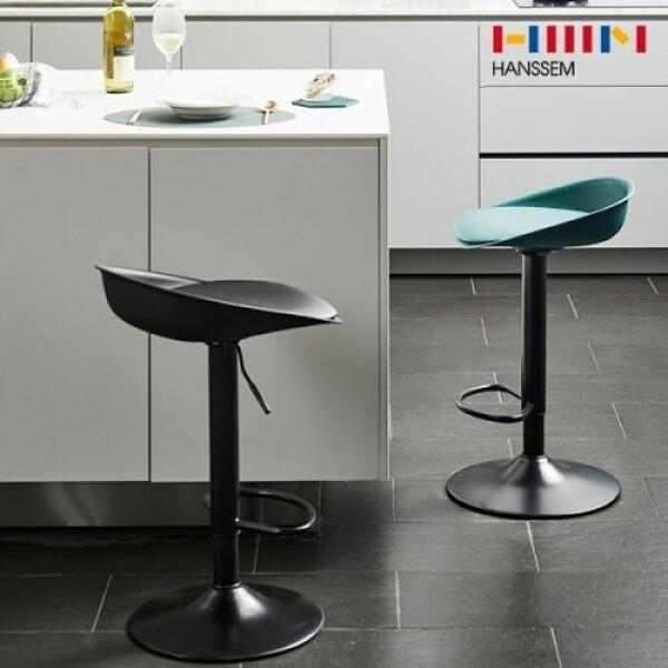 한샘 모도 쿠션 유압식 바체어/의자(블랙,딥그린,그레이)