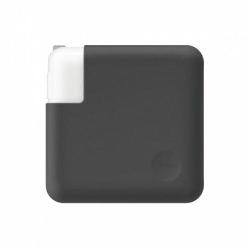 엘라고 맥북/맥북 Pro15 (38.1cm) 충전어댑터 실리콘 커버 (다크그레이)
