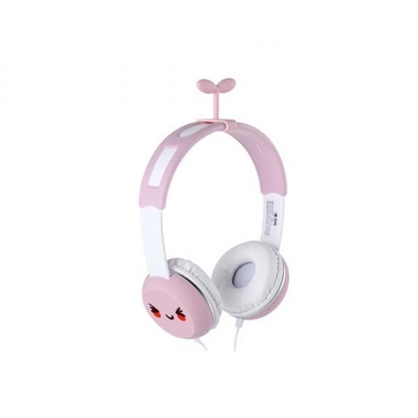 코비 어학용 캐릭터 헤드폰 예쁜디자인 헤드폰 Y-7 (핑크)