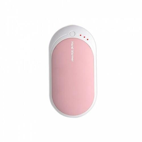 핸드워머 보조배터리 겸용 충전식 손난로 핑크