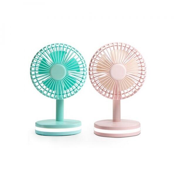 레토 충전식 휴대용 미니선풍기 무드등 LMF-TM02, 2p세트 (핑크+블루)
