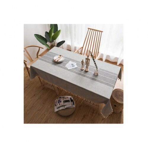 AnTs 주방용품 테이블 식탁보 (140x180) 세줄 그레이 1개