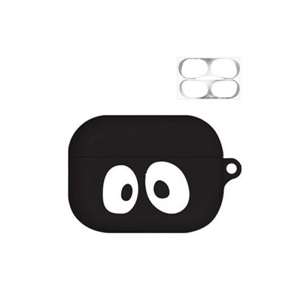 바니몽 까망까망 실리콘 에어팟프로 케이스 큐티까망 + 철가루 방지 스티커