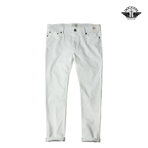 LEVI'S Dockers 리바이스 다커스 엘라스틴진 Fix Skinny Jeans white denim