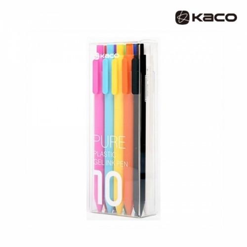 Pure softtoucn gel pen in 10pcs PET  퓨어 소프트 젤펜 10종 1세트 (심컬러 블랙 1종)