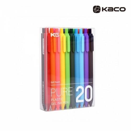 Pure softtoucn gel pen in 20pcs PET 퓨어 소프트 젤펜 20종 1세트 (믹스컬러 / 심컬러 20종)