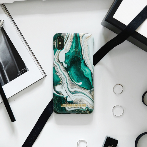 [iDEAL OF SWEDEN] FASHION CASE GOLDEN JADE MARBLE IPHONE / SAMSUNG