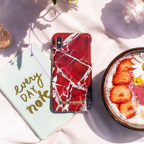 [iDEAL OF SWEDEN] FASHION CASE SCARLET RED MARBLE IPHONE