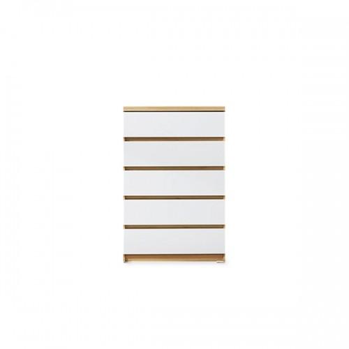 아벨 800 5단서랍장 4color (멀바우.아카시아,아카시아화이트,화이트)